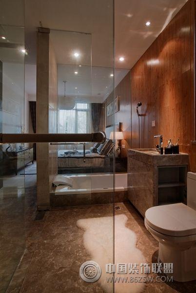 新中式范别墅样板房中式卫生间装修图片图片