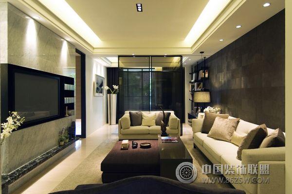 台北高雄精装样板房简约客厅装修图片
