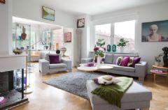 98平米色彩明快的北欧风格公寓