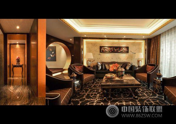 深圳大东城奢华装修样板房-欧式风格装修效果图-八六