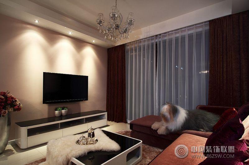 7万装95平米温馨简约三居室 客厅装修效果图 八六装饰网装修效果图库
