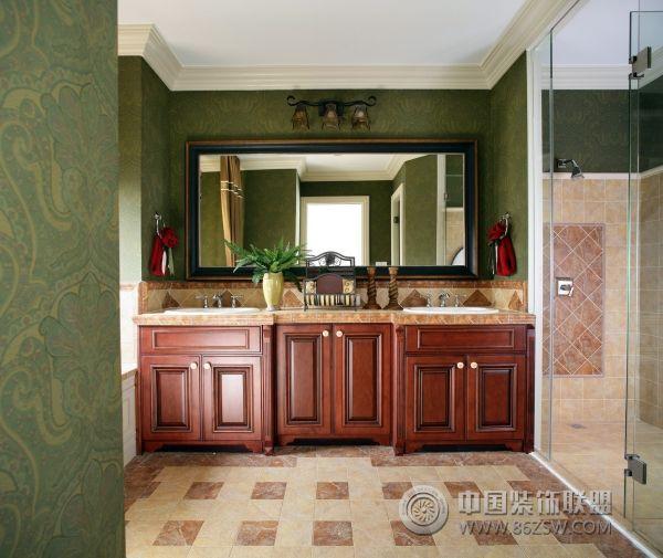 超奢华美式乡村别墅美式厨房装修图片