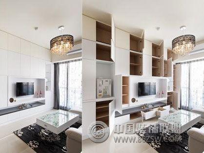 52平米白净素雅婚房实景图 书房装修图片高清图片
