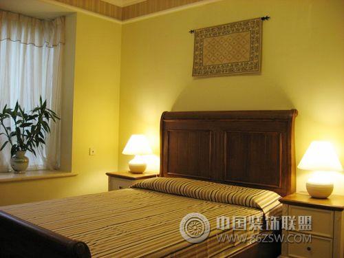 6万元装修125平米田园风三居 卧室装修效果图 www.86zsw.com -6万元