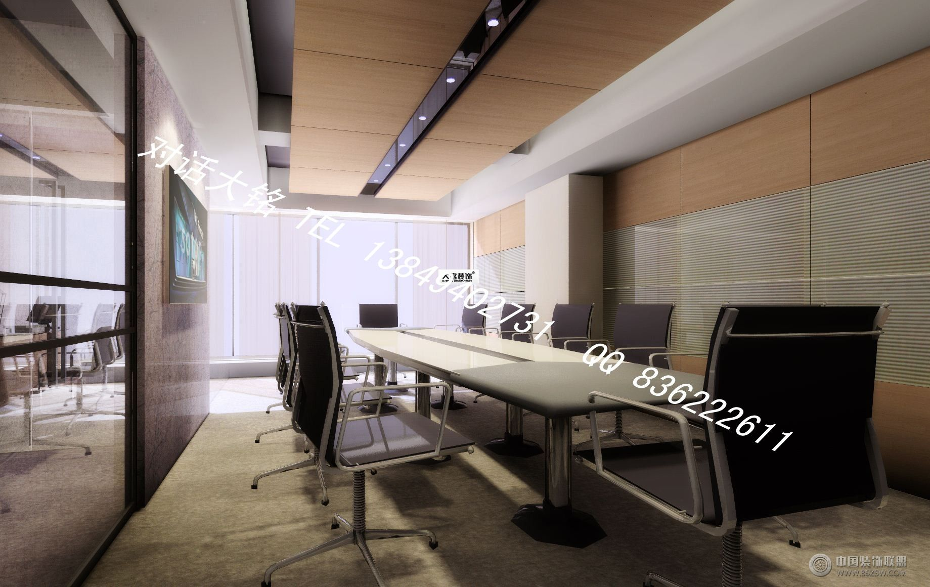 办公室 宇通_办公室装修效果图_八六(中国)装饰联盟(.