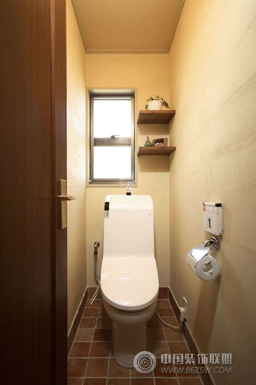 日本大阪青年的70平米开放设计简约卫生间装修