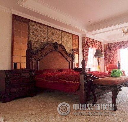 雅致大气的古典欧式别墅装修-卧室装修图片图片