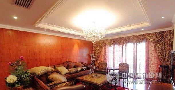 雅致大气的古典欧式别墅装修-客厅装修图片