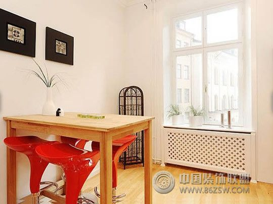 單身男的單身公寓現代餐廳裝修圖片