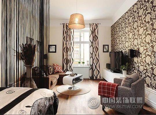 单身男的单身公寓-客厅装修效果图-八六(中国)装饰