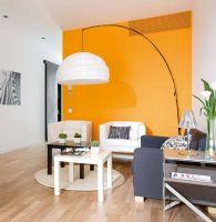 50平米橙色与黑白的和谐搭配