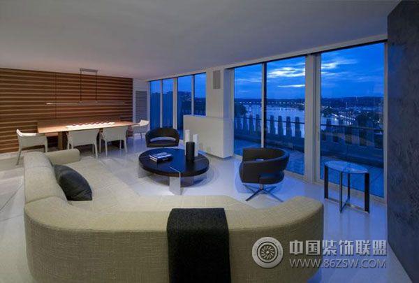 典型美式简约风格室内设计 客厅装修效果图 八六装饰