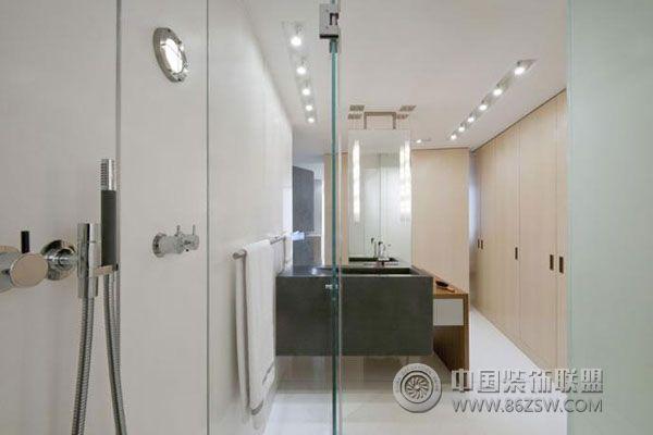 典型美式简约风格室内设计-卫生间装修图片