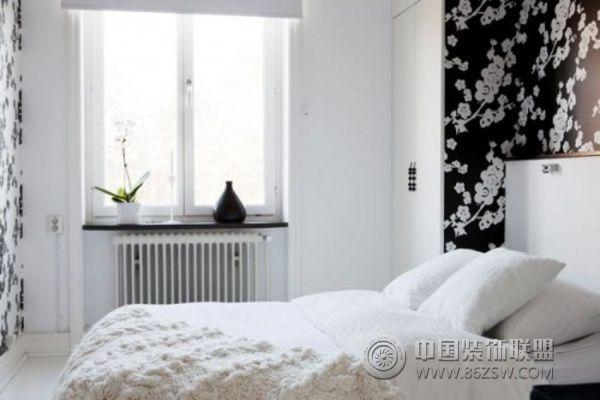 充满活力的45平米白色空间 卧室装修效果图 八六 中国 装饰联盟装修效
