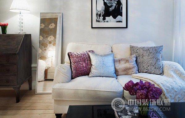 瑞典39平米的超小户型公寓客厅装修图片