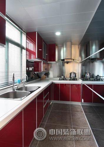 艷家現代廚房裝修圖片