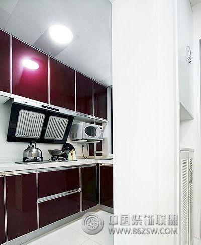 12万打造88平奶油色两室两厅 厨房装修效果图 八六网 高清图片