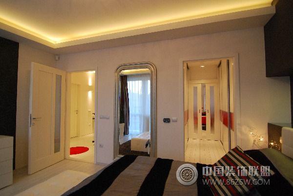 130平方米复式公寓-卧室装修图片
