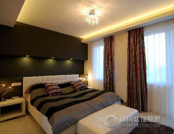 130平方米复式公寓-卧室装修效果图-八六(中国)装饰