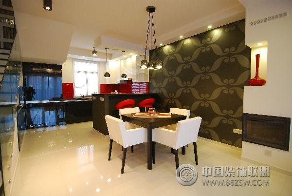 130平方米复式公寓-餐厅装修效果图-八六(中国)装饰(.图片