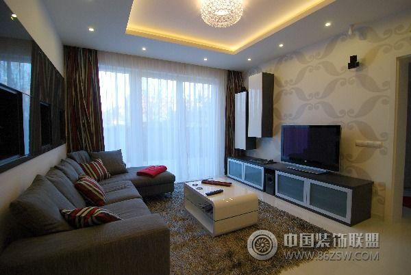 130平方米复式公寓简约客厅装修图片