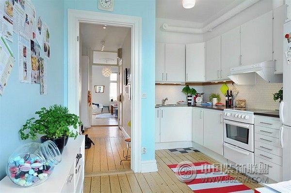 65平米公寓设计简约厨房装修图片