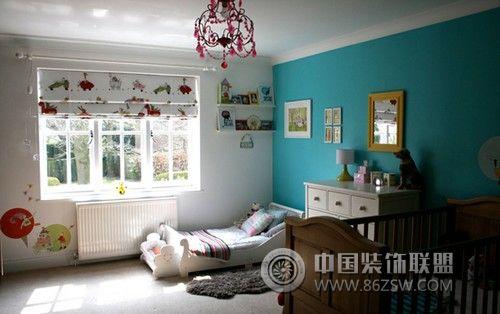 淡蓝色儿童房设计-儿童房装修效果图-八六(中国)装饰