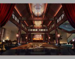 大马酒店会所中式风格错层