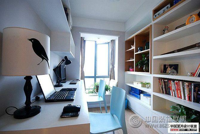 都市简约休闲之家 书房装修图片