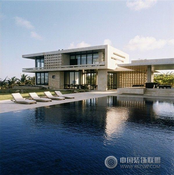 Modern Luxury Home In Architectural Design In Australia: 海边超大泳池别墅_现代别墅装修效果图_八六(中国)装饰联盟装修效果图库(86zsw.com