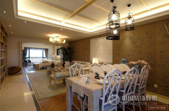 二居室 110㎡ 餐厅装修效果图 万科棠樾澜山居样板房 高清图片