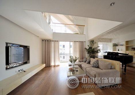 110平米阳光通透暖巢 客厅装修效果图 八六装饰网