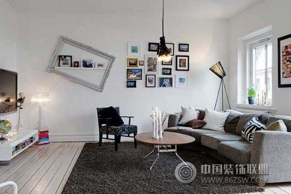 典型北欧风格迷人公寓-客厅装修图片