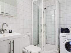 北欧69平米质朴 甜园 公寓田园卫生间装修图片