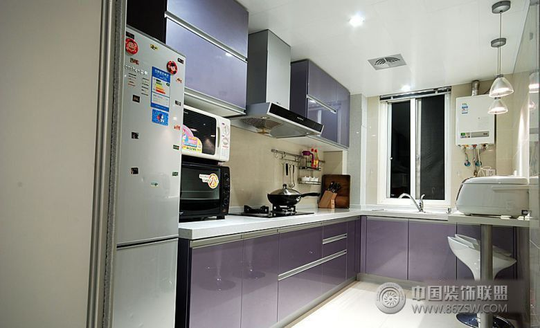 22万豪装100平米现代雅居-厨房装修效果图-八六装饰网