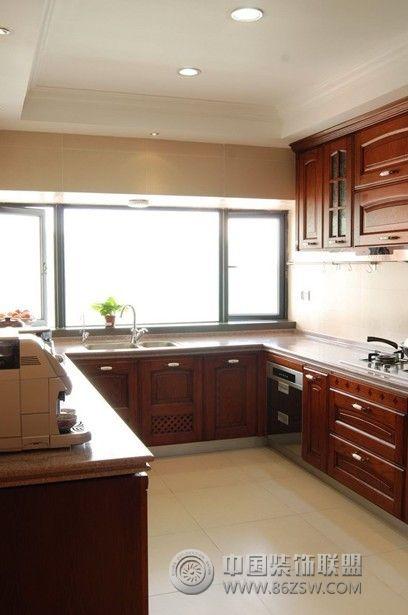 50万打造120平米新中式古典混搭-厨房装修图片