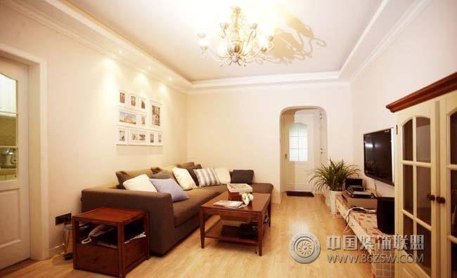 8万半包90平米温馨美式小屋-客厅装修效果图-八六()