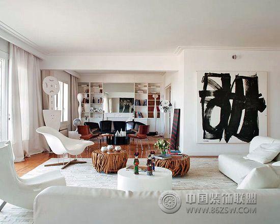 150平米印象派艺术空间-客厅装修图片