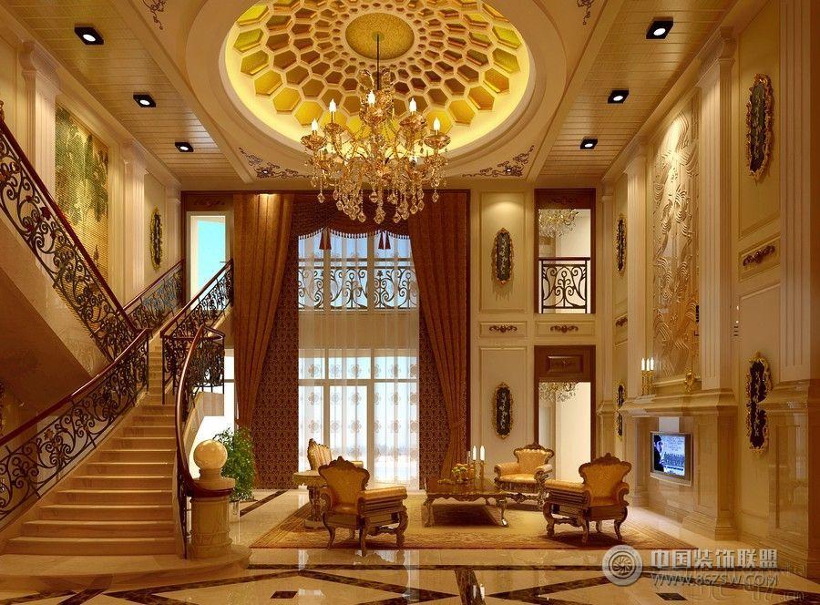 苏州富商100万豪装欧式别墅欧式客厅装修图片