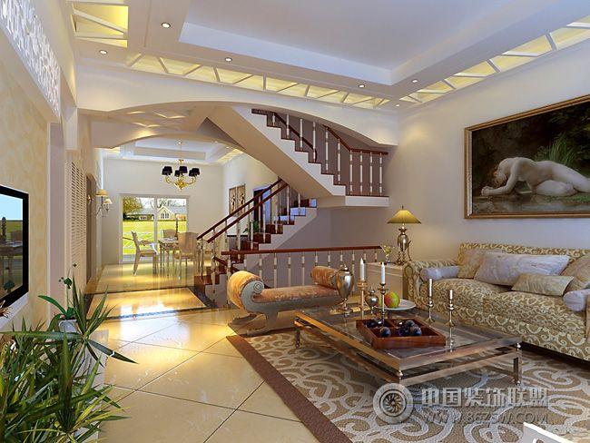 现代奢华别墅现代客厅装修图片