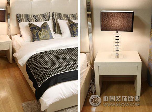 120平米黑灰金奢华家居 卧室装修图片