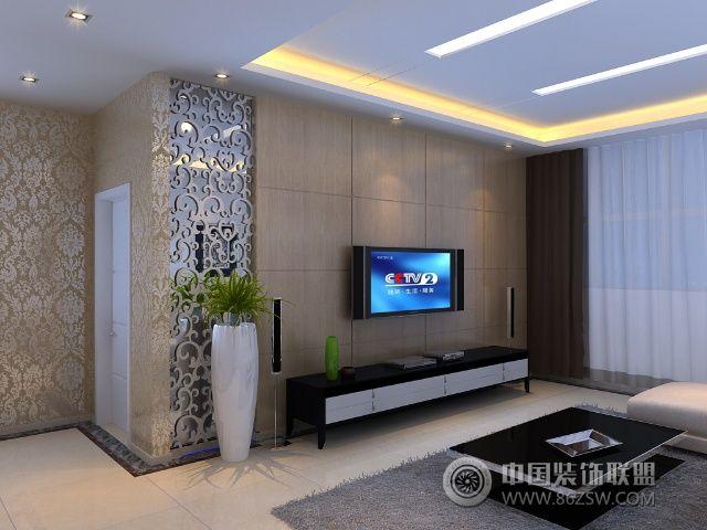 低调奢华别墅装修效果现代客厅装修图片