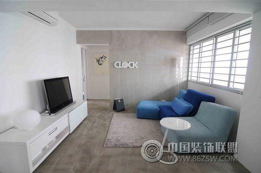 86平米素色之家简约客厅装修图片