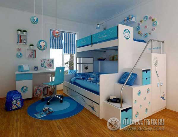 创意双层架子床三-儿童房装修效果图-八六装饰网装修
