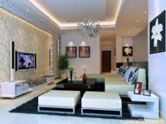 上海别墅客厅装修简约风格别墅