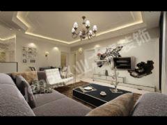 南阳聚龙居二居室欧洲风情简约装修现代风格小户型