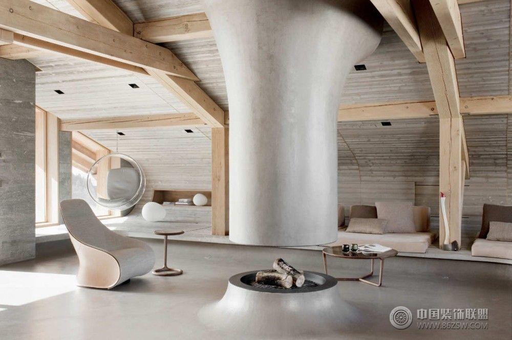法国beranger木屋现代客厅装修图片