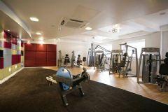 時尚的健身房一角現代健身房裝修圖片