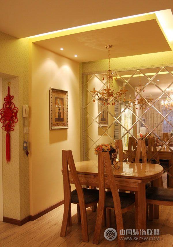 美式田园风格居室 餐厅装修图片