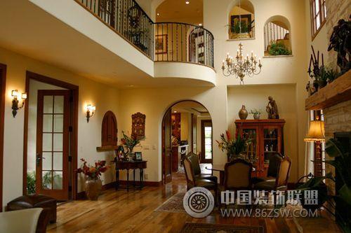 装修效果图 现代装修效果图 西班牙式国外豪华别墅  类型:家装 风格